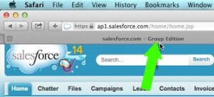 What Version of Salesforce Do I Have Using Safari